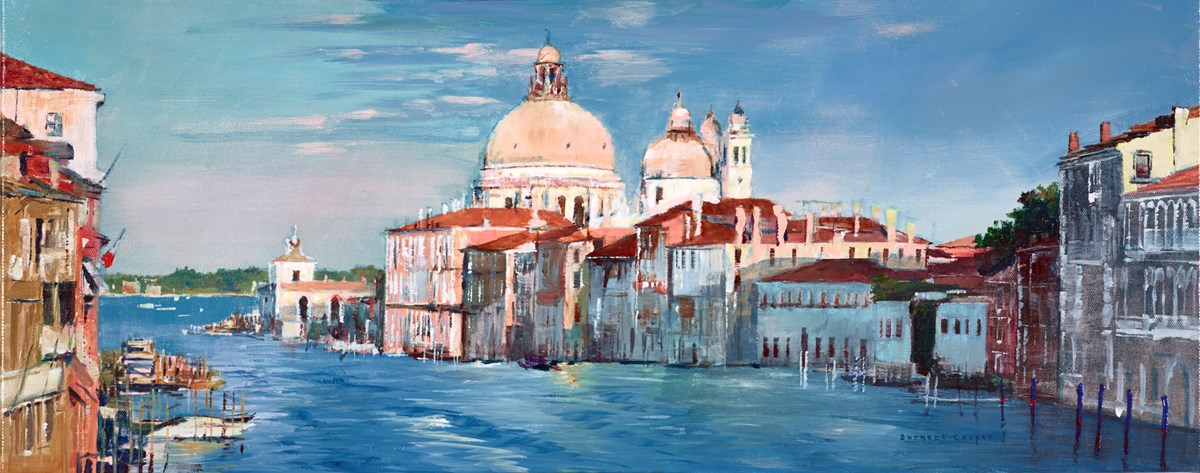 Venetian Evening Light by hilary burnett cooper -  sized 30x12 inches. Available from Whitewall Galleries